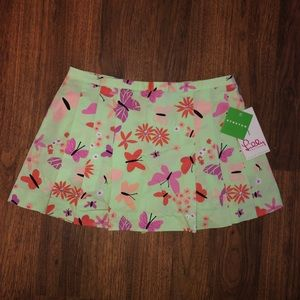 NWT Lilly Pulitzer Vintage Butterfly Skirt